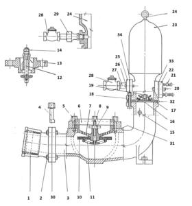 Blake Hydram Spare Parts Diagram